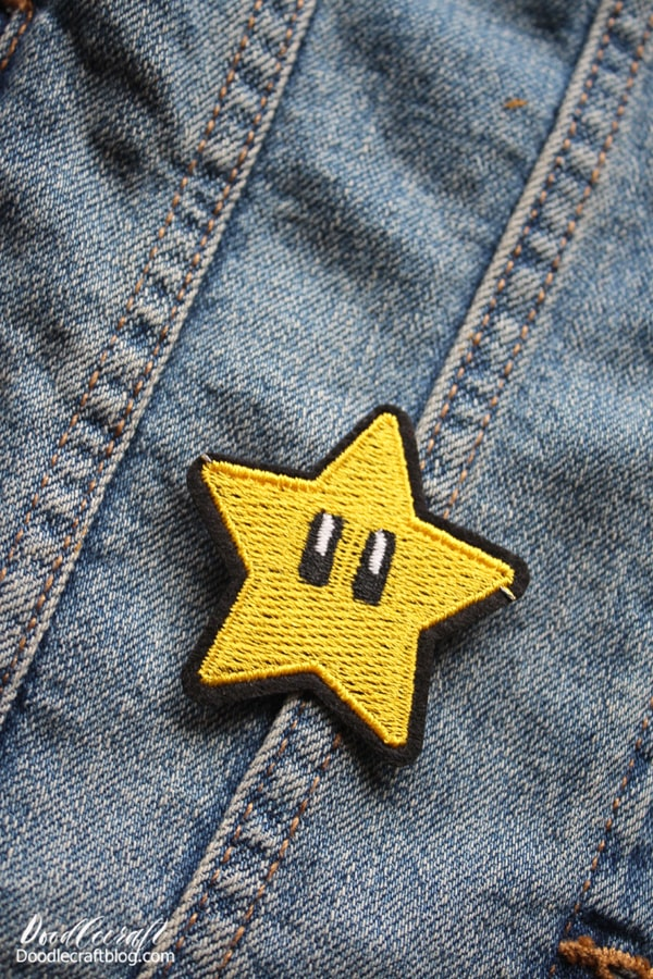 Step 2: Place Patches on Jacket Take some time to arrange and rearrange the patches you love all over the jacket. Use them to cover up those little trouble spots, stains or paint marks. Great for patching small holes too.