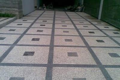 Gambar Foto Batu Sikat Motif Diagonal/kotak