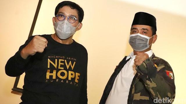 Pilkada 2020 Disarankan Ditunda, Cawali Surabaya Machfud Siap Perang Kapan Saja
