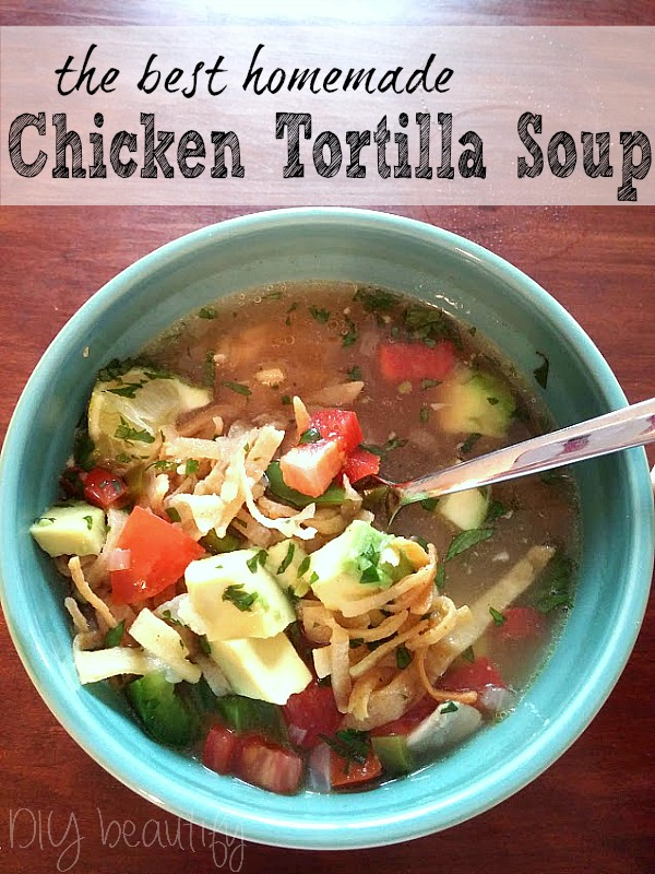 chicken tortilla soup with a broth base
