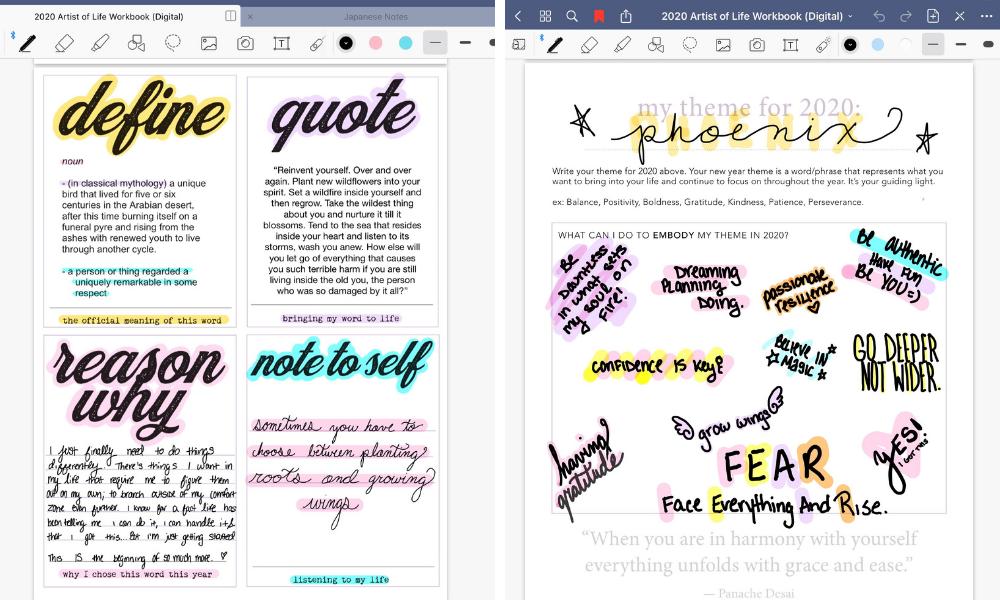 one little word olw ali edwards workshop digital planning artist of life workbook lavendaire