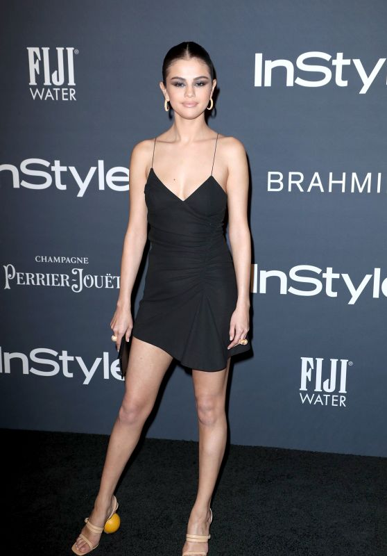 Selena Gomez flaunts sexy LBD and quirky shoes to the InStyle Awards in LA