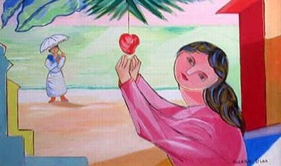 Mulher e Maçã - Cícero Dias e suas principais pinturas ~ Pintor pernambucano