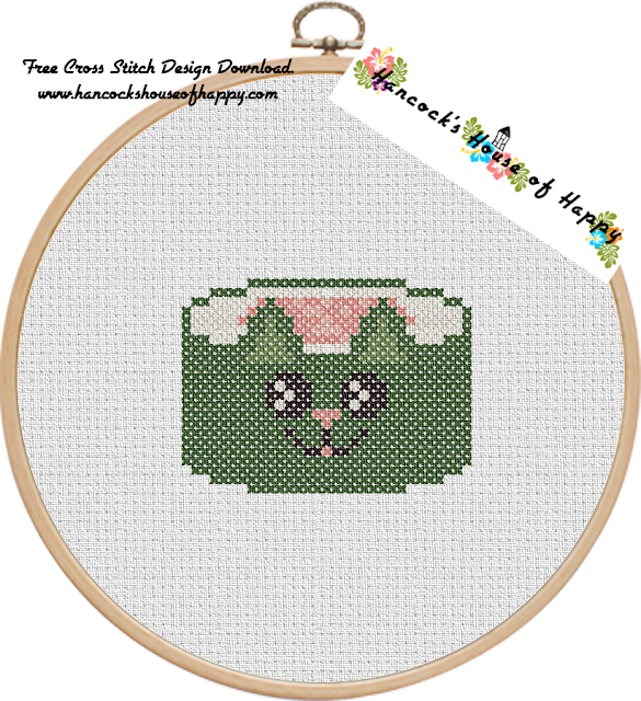 Sushi Cat Cross Stitch Design: Catifornia Roll (California Roll) Free Cross Stitch Pattern to Download