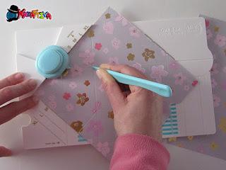 ruota carta per creare modello punch board gifs box
