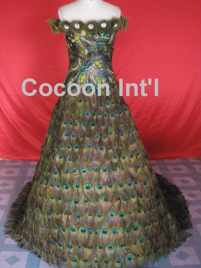 Peacock Feather Wedding Dresses Designs Wedding Dress