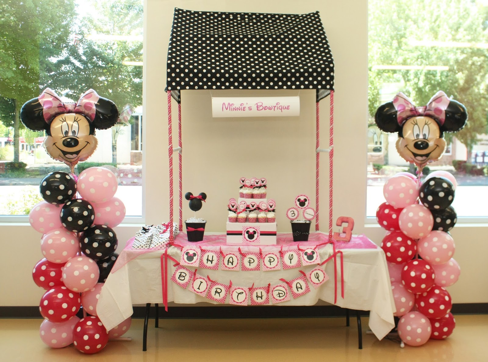 Minnies Bowtique Inspired Birthday Party