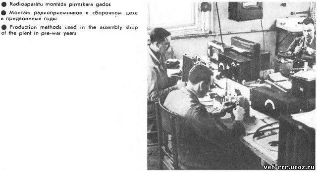 Монтаж радиоприёмников в сборочном цехе в предвоенные годы