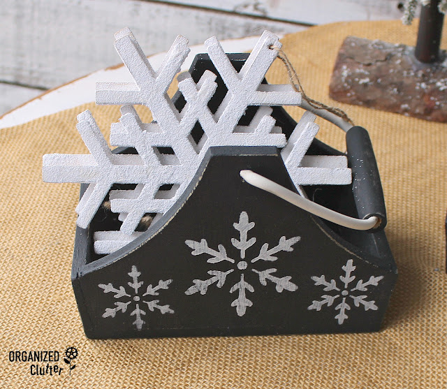 Upcycled CLEARANCE Sale Unfinished Wood Decor #stencil #snowflake #upcycle #clearancefinds #Christmasdecor
