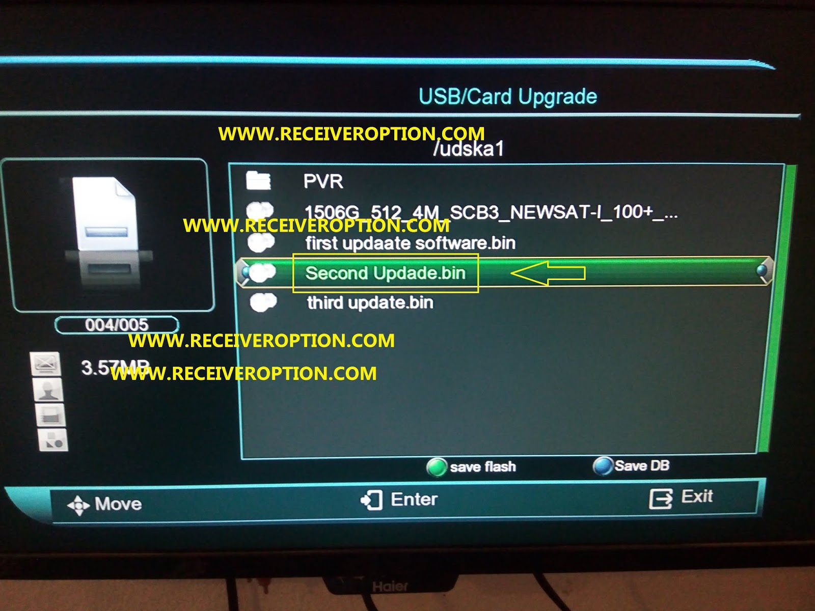 COBOX HD RECEIVER POWERVU KEY NEW SOFTWARE - HOW TO ENTER BISS KEY