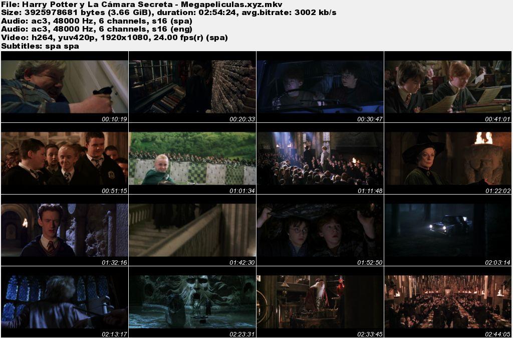 capturas pelicula Harry Potter y La Cámara Secreta latino