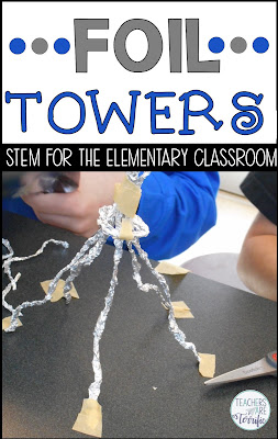 Can you build a tower in STEM class using just a 12-inch piece of foil and a tiny bit of tape? STEM for the elementary classroom!