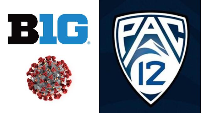 Big12 & Pac12 COVID-19 logos