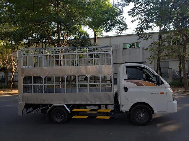Hyundai H150 thùng chở gia súc lợn heo
