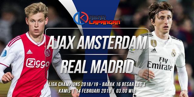 Prediksi Bola Ajax vs Real Madrid Liga Champions