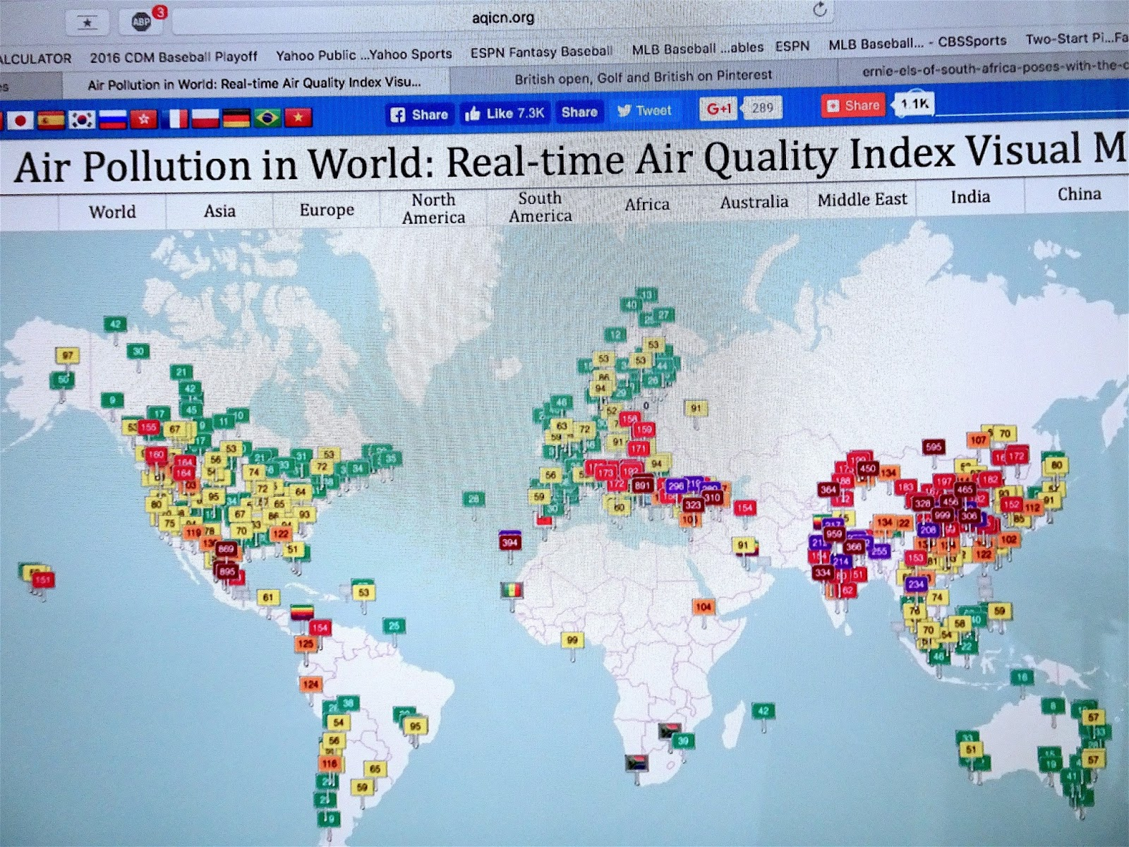 SIMPLE SOLUTIONS FOR PLANET EARTH AND HUMANITY HAWAII AIR POLLUTION - 2017 map of air pollution in us