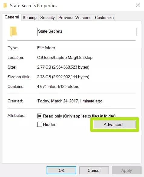 طريقة تشفير المستندات والمجلدات في ويندوز 10