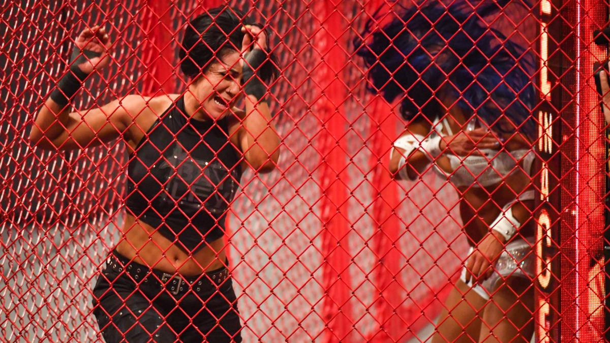 Sasha Banks and Bayley at WWE Hell in a Cell 2020