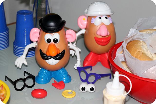 Senhor e Senhora Cabeça de Batata - Mêsversário com Decoração do Toy Story