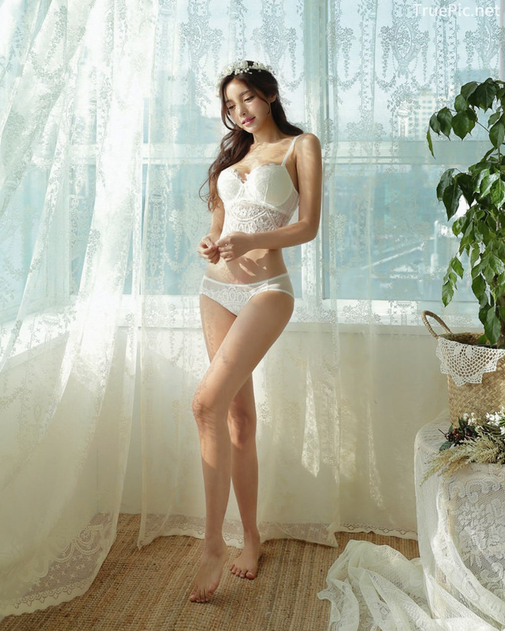 Korean Fashion Model - Jin Hee - Lovely Soft Lace Lingerie - TruePic.net - Picture 4
