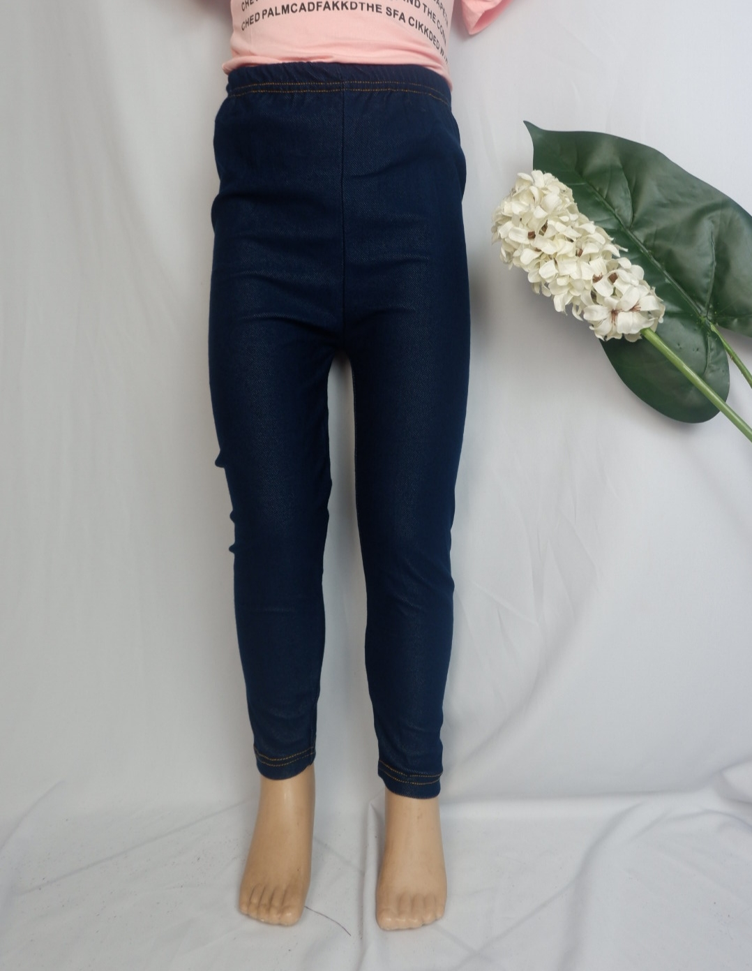 LEGING KIDDIE JEANS POLOS (CANKC010)