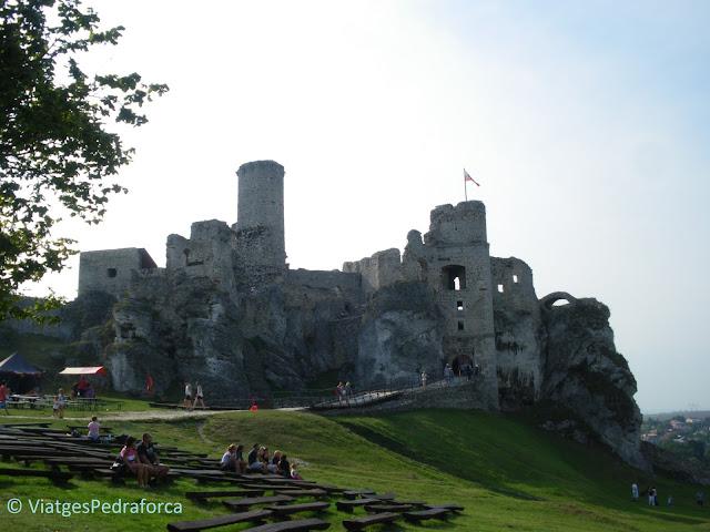 Zamek Ogrodzieniec, Ruta dels Nius d'Àguila, Polònia medieval