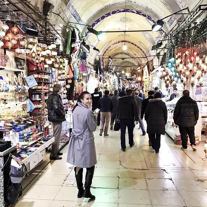 Jelena Zivanovic Instagram @lelazivanovic.Glam fab week.Grand Bazaar Istanbul.