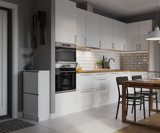 Thiết kế và thi công hoàn thiện nội thất căn hộ chung cư Sunshine City Quận 7 - Phòng bếp và bàn ăn