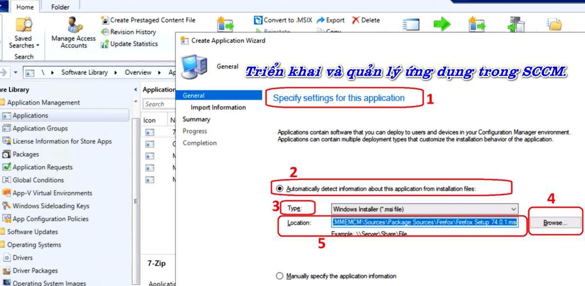 Triển khai và quản lý ứng dụng trong System Center Configuration Manager