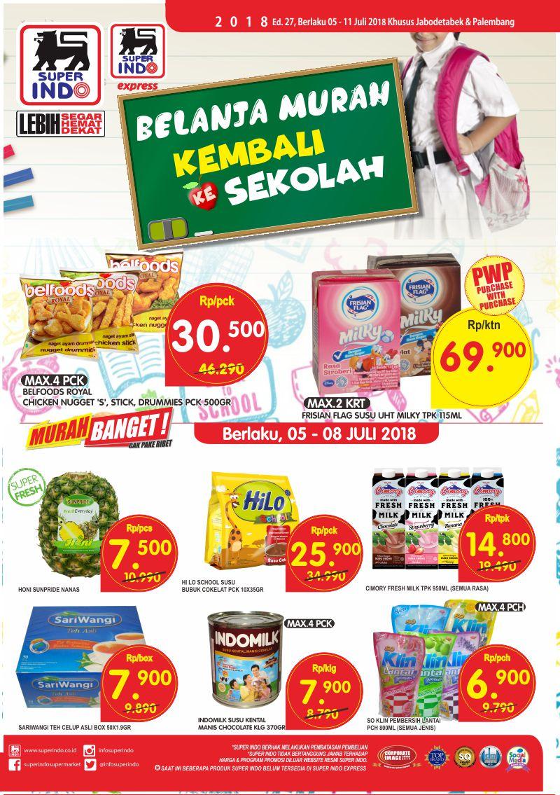 Superindo - Katalog Promo Kembali Ke Sekolah (05 - 11 Juli 2018)