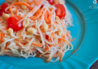 salada mamão papaia verde