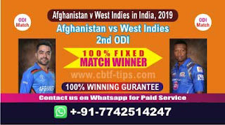Who will win Today 2nd ODI, Match WI vs AFGH , Cricket Match Free Tips