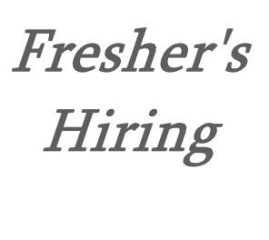 Freshers Hiring | Latest Fresher's Hiring Updates | Off Campus and On Campus Hiring's