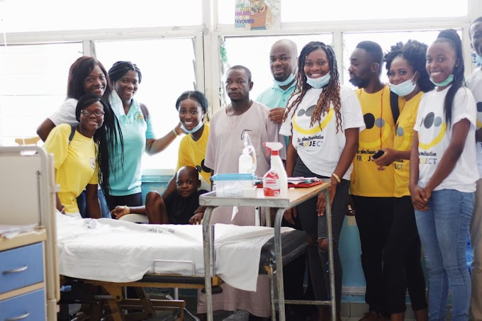 The Smilespiration Project donates to children at the Korle-Bu Oncology ward