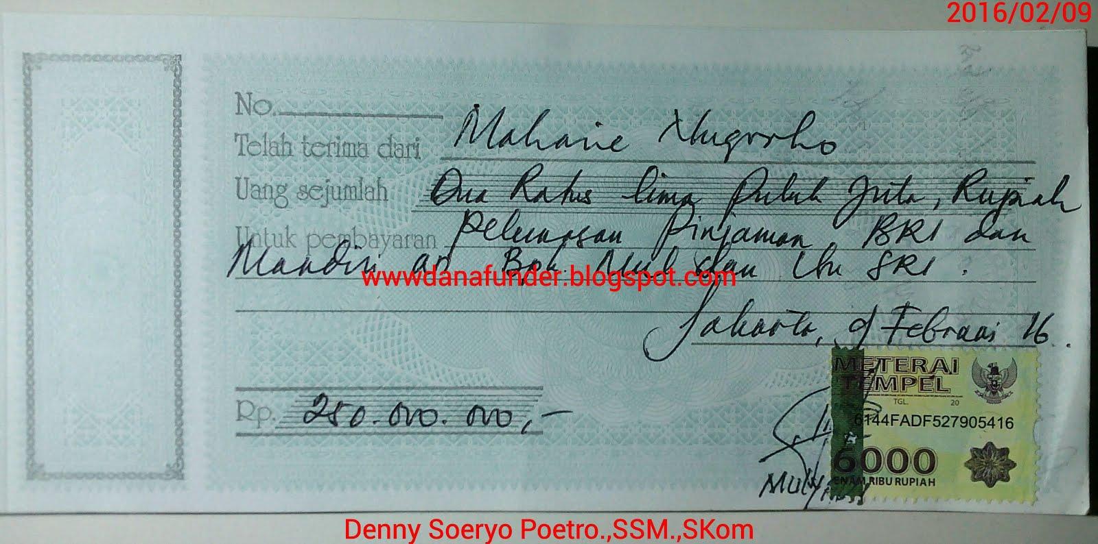 Contoh Kwitansi Pinjaman Uang Aneka Macam Contoh