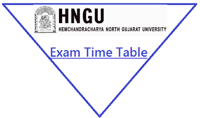 HNGU Exam Time Table Oct-Dec 2018