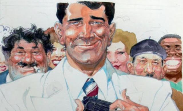 Image illustrant San-Antonio, le commissaire de police, héros de la série éponyme.