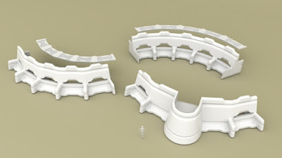 Modular Wall Sections - Curved