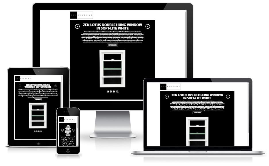 Zenwindowsatlanta - 360 degree product rotation campaign pages