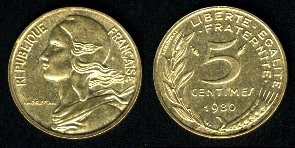 France 5 Centimes (1966-2001) Coin