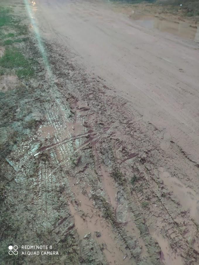 Moradores da Rua Telma Dorotéia enfretam lama para entrar em casa