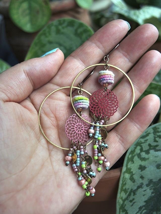 """DIY oorbellen/earrings: """"april"""""""
