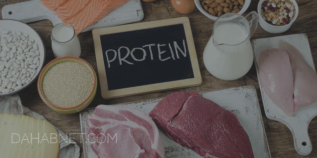 1- أضافة البروتين إلى نظامك الغذائي :