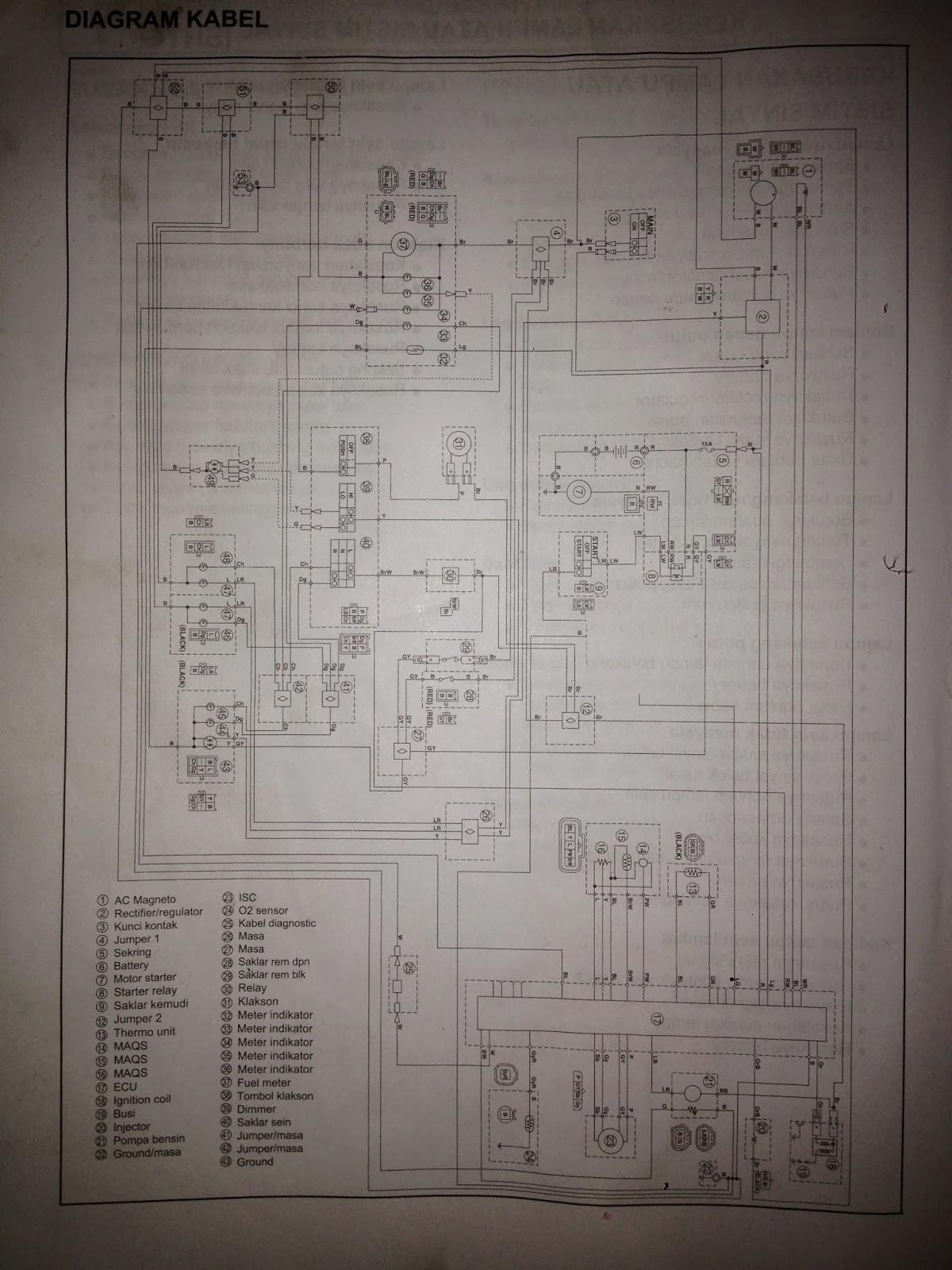 diagram kelistrikan soul gt atau mio j [ 1200 x 1600 Pixel ]