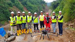 Foto Tim Terra Drone dan Tim Wijaya Karya