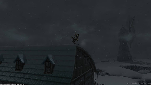 Final Fantasy XIV: остановка на крыше