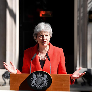 U.K PM, #TheresaMay in tears as she resigns  .