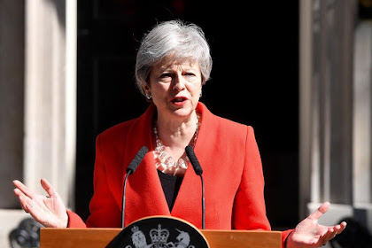U.K PM, Theresa May, Teary As She Gives Resignation Speech