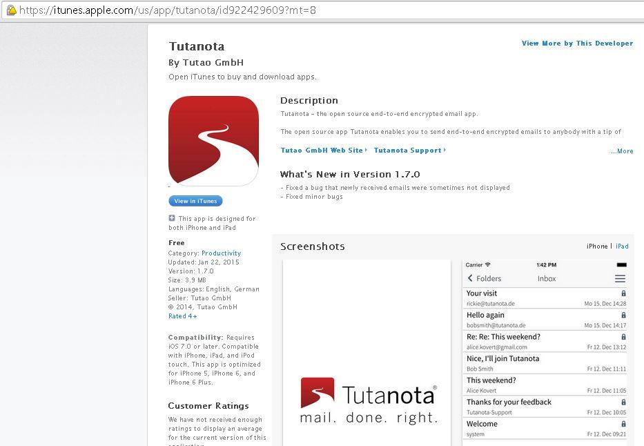 Tutanota - iOS