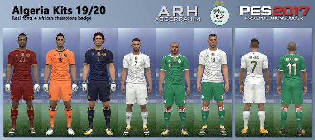 PES 2017 Algeria Kits 19/20 by ARH